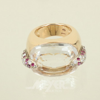 Ring ''POMELLATO'' Mod. Pin up, 750er GG,
