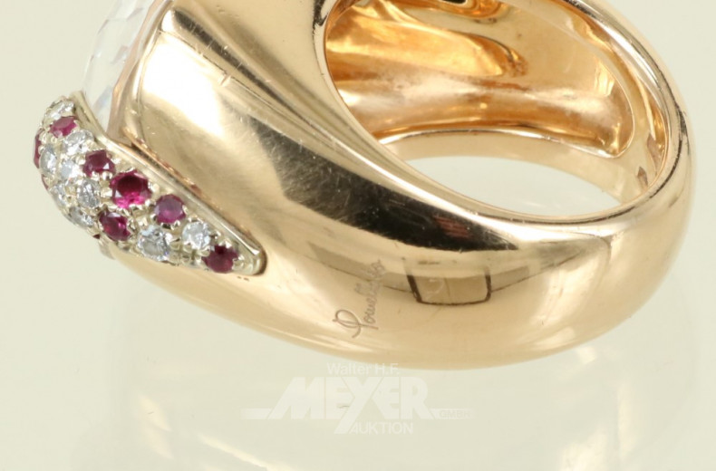 Ring ''POMELLATO'' Mod. Pin up, 750er GG,