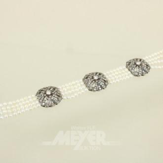 Perlarmband, 4-reihig, Mittel- und