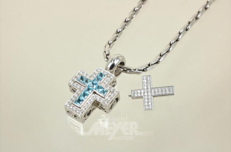 Glieder-Halskette, 750er WG, ca. 36 g.,