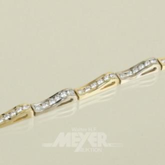 Armband, 585er GG/WG, Allianzform,