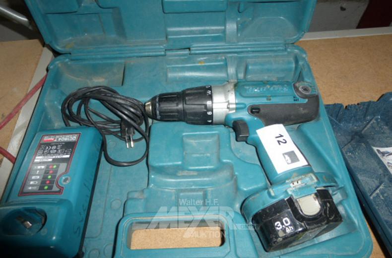 Akkubohrschrauber mit Akku und Ladegerät
