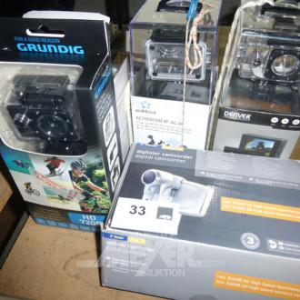HD-Action Kamera mit div. Zubehör und