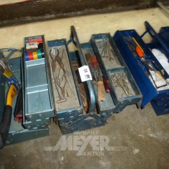 3 Scherenmetall-Werkzeugkästen