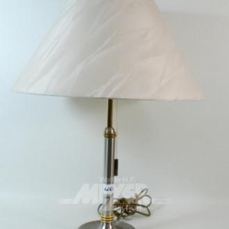 Tischlampe, Chromfuß,