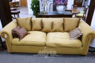 gr. Sofa, 3-sitzig, senffarben,