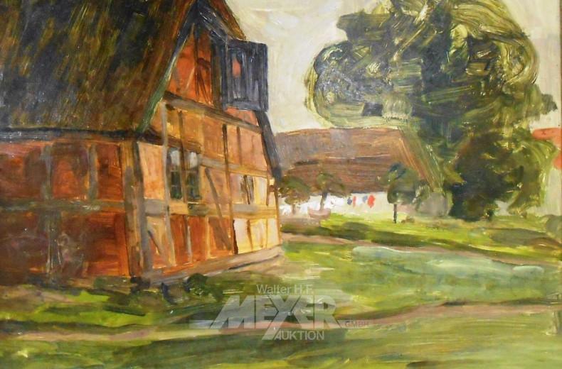 Gemälde ''Fachwerkhaus''