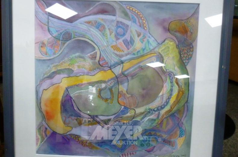 Aquarell ''Farbkomposition''