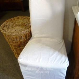 3 Stühle, mit Hussen
