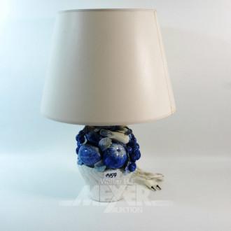 Lampe, Keramikfuß ''Obst'', bestoßen