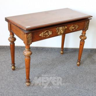Spieltisch, Mahagoni mit goldfarbigen