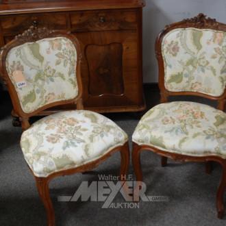 2 Barock-Stil-Stühle, Bezug: Blumendekor,