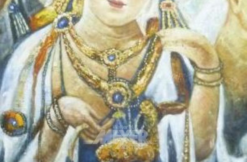 gr. Ölbild ''Asiatische Königin''