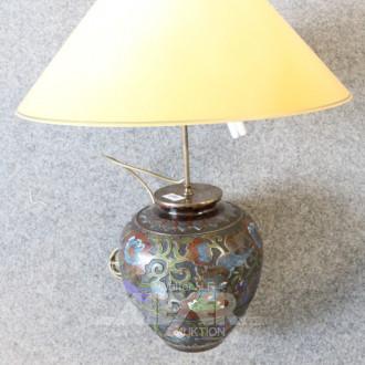 Vasenlampe, chin. Bronze-Vasenfuß,