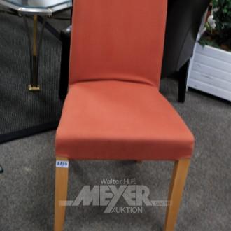 2 div. Stühle, rot u. schwarz