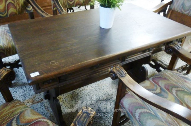 Schreibtisch, Eiche massiv, rustikal,