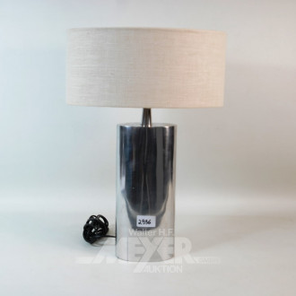 Tischlampe, Metallfuß, Schirm: beige