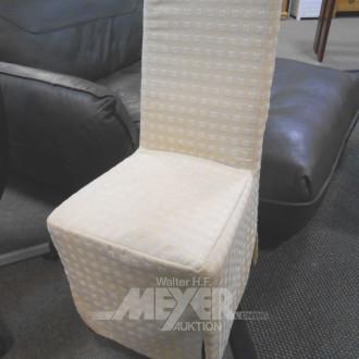 Sessel mit Hochlehne, Stoff beige,