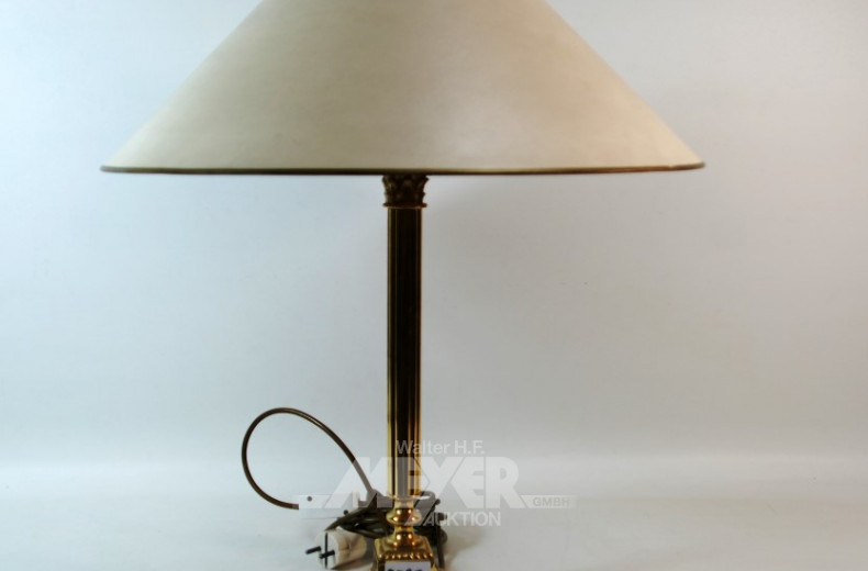 Tischlampe, Messingfuß, 1 flam.,