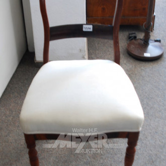 Stuhl, Mahagoni, Rückenlehne beschädigt