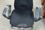 Armlehn-Bürodrehstuhl, Stoff schwarz
