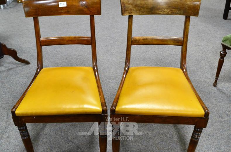 3 Stühle um 1900, Mahagoni