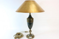 Tischlampe, 1-flammig, Messing, goldfr.