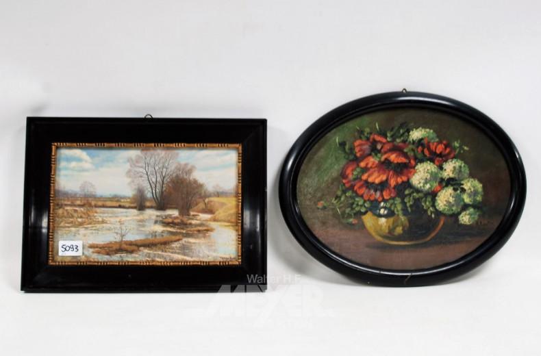 Druck ''Landschaft'' und ein Gemälde
