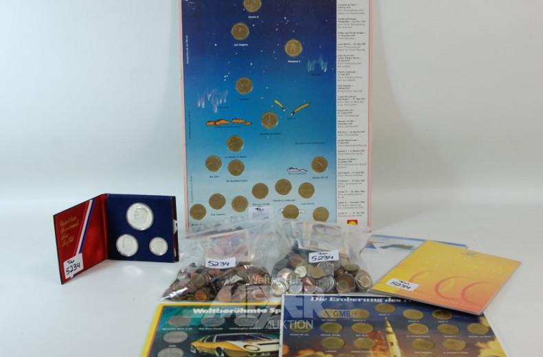 Posten Münzen u. Medaillen