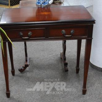 Spieltisch, Mahagoni, mit kl. Intarsie,