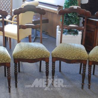 4 Stühle Mahagoni