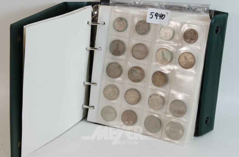 Münzalbum mit Reichsmark-Münzen