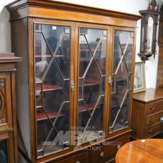 engl. Bookcase, Mahagoni um 1900,