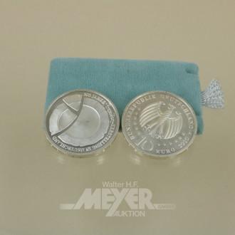 16 10 EURO-Münzen ''300 Jahre Porzellan-