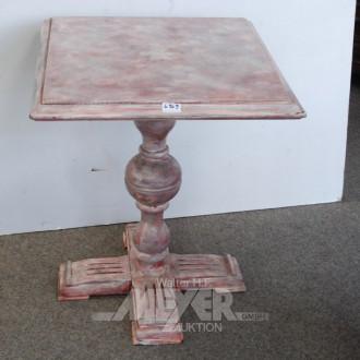 Vintage-Esstisch, roséfarben bemalt,