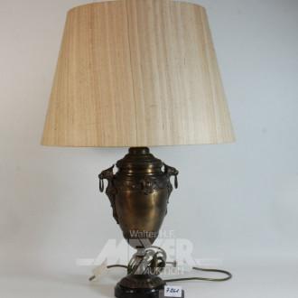 Paar gr. Tischlampen, Messing bronziert