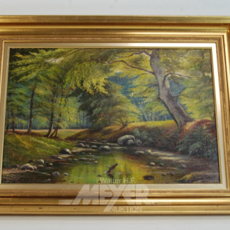 Gemälde ''Lichtung mit Bachlauf''