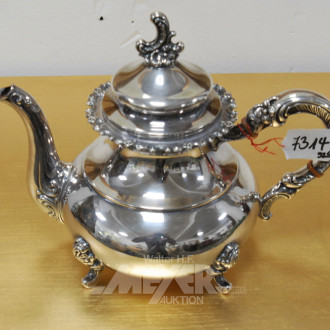Teekanne, Silber 925er