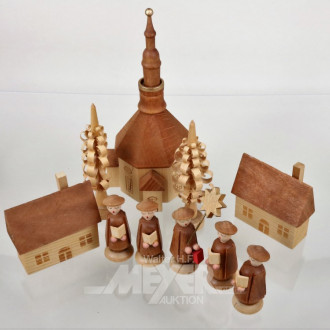10 Holzfiguren ''Kirchplatz''
