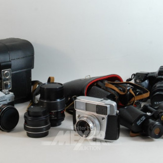 6 Teile Optik: Ferngläser, Kameras