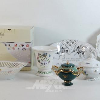 Posten Porzellan: Vasen, Schalen,