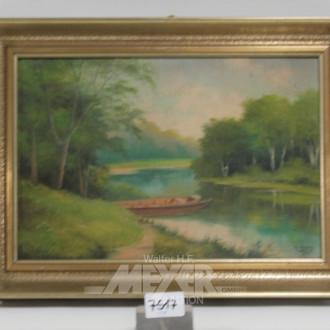 Gemälde ''Boote am Ufer''