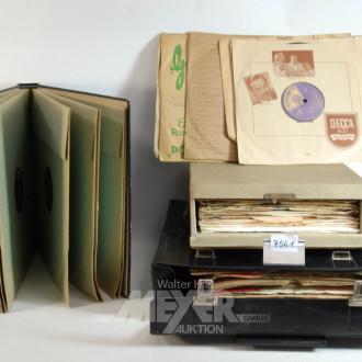 Posten div. Schellackplatten und LP´s