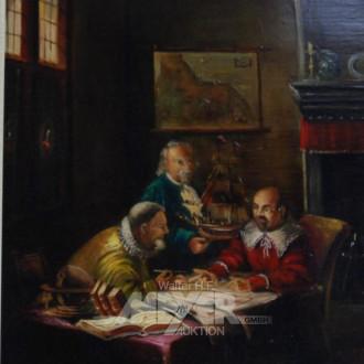 Gemälde, ''Herrenrunde''
