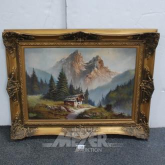 Gemälde ''Berghütte''
