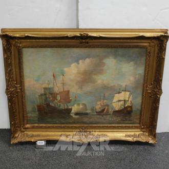 Gemälde ''Schiffe''