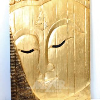 Paar asiat. Gesichts-Reliefs