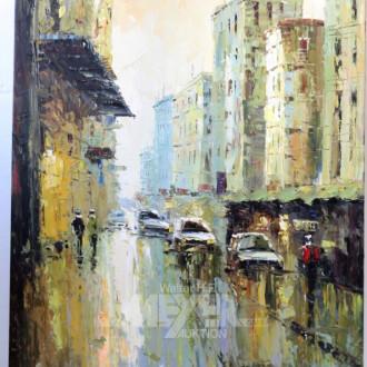 Gemälde ''New Yorker Straßenszene''