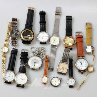 16 Damen- und Herrenarmbanduhren