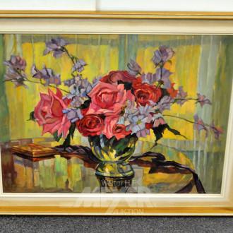 Gemälde ''Rosen'', l.u.bez.: Klefenhausen